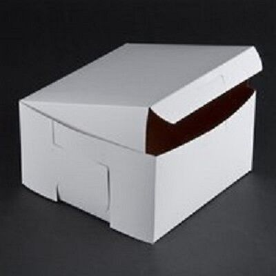 10 Count White 7x7x4 Bakery Or Cake Box