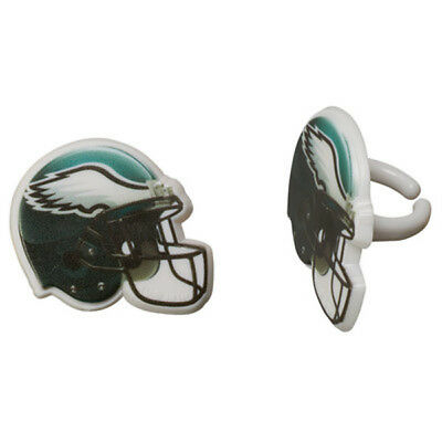 Eagles Party Decorations (12 Philadelphia Eagles NFL Football Cupcake Ring Topper Decorations Party)