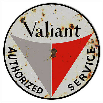Reproduction Valiant Service Sign 24 Round