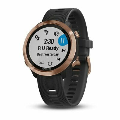 Garmin Forerunner 645 Music GPS Running Smartwatch, Black w/Rose Gold