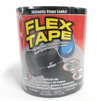 Flex Tape Strong Rubberized Waterproof Tape 4 X 5 - Black