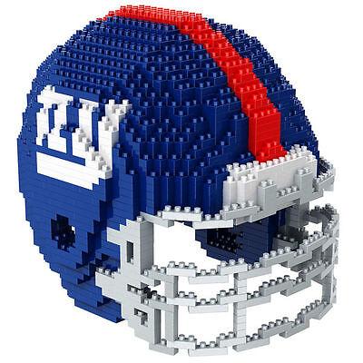 NFL NEW YORK NY GIANTS 3D BRXLZ Puzzle Helm Helmet Set Football Footballhelm