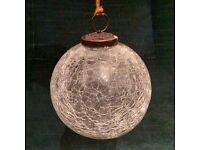 24x Beautiful Nkuku Crackle Glass Christmas Decoration Baubles - Brand New