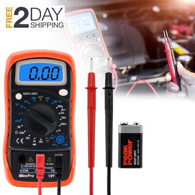 Digital Lcd Multimeter For Automotive Car Ac Dc Voltage Tester Ohm Amp Meter