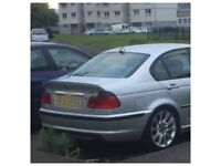 BMW E46 325I M SPORT 4 D SALLON BUMPER SIDE SKIRTS SILLS BODY KIT TITIAN SILVER FULL BREAKING!!!!!