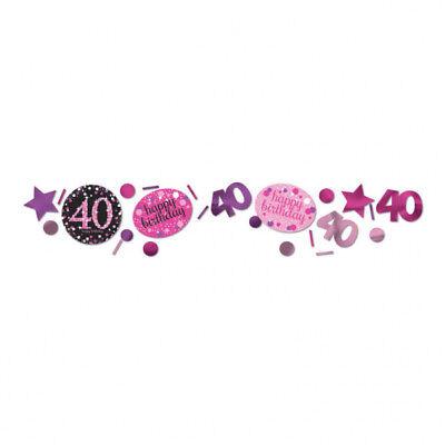 40. Geburtstag Party Deko Konfetti Happy Birthday pink - Birthday Party Dekorationen