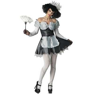 NWT CALIFORNIA COSTUME MAYHEM MANSION DEAD MAID COSTUME SMALL HALLOWEEN (Dead Halloween Maid)