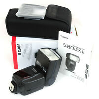canon 580 EX II pro flash in box with everything