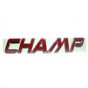 toyota hilux vigo champ genuine emblem decal red logo 3d champ