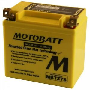 New MOTOBATT BATTERY for APRILIA RS 50,Scarabeo 100 MBTZ7S
