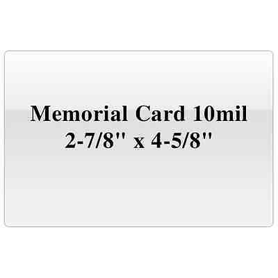 Memorial Card 10mil 2 78 X 4 58 Thermal Laminating Pouches Laminating Paper
