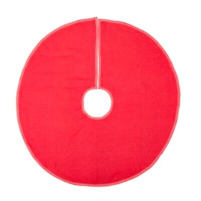 "NEW!~CHRISTMAS TREE SKIRT~Red Burlap 36"" Diameter~Country/Vintage/Primitive"