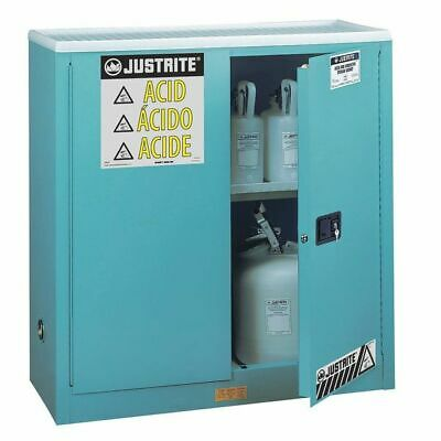 JUSTRITE 893002 Corrosive Safety Cabinet, 30 gal., Manual