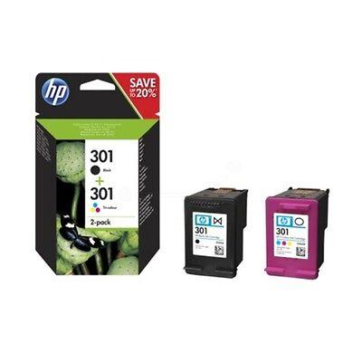 New Genuine HP 301 Original Ink Cartridges - 2 Pack, Black, Tri-Color