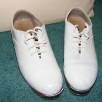 Dance tap shoes white ladies size 5 or 4.5