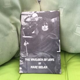 """MARC BOLAN's EXTRAORDINARY RARE AND SOUGHT AFTER BOOK. """"THE WARLOCK OF LOVE"""". FIRST EDITION 1969!"""