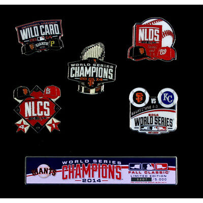 San Francisco Giants 2014 World Series Champions Limited Edition Pin Collection