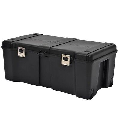 Footlockers Storage Trunk Locking Rolling Trunks Chests Large Travel Dorm Chest ()
