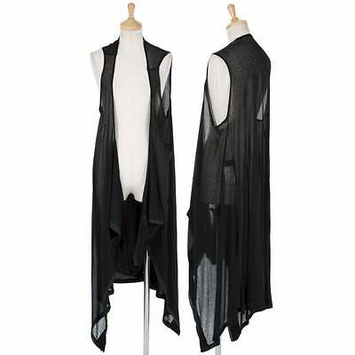 (SALE) LIMIfeu Rayon See through Long Gillet Size S(K-29391)