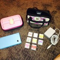 Nintendo DSI with cases, games and charger