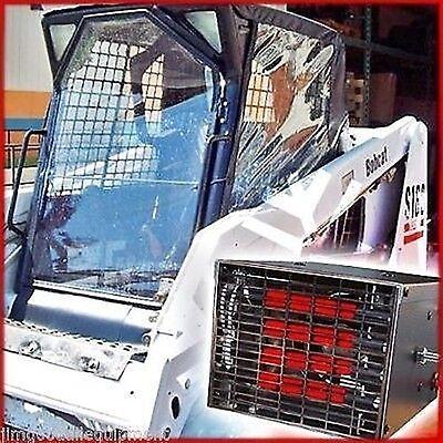 Bobcat Skid Steer Cab Enclosure Kit W 10000 Btu Heaterstay Warm Dryinstock