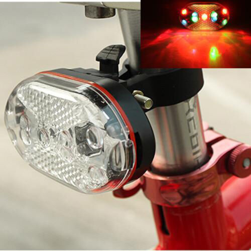 9 Colorful Led Super Bright Bicycle Bike Cycling Tail Light Rear Lamp Taillight