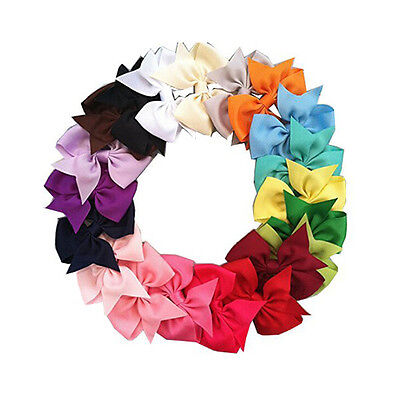 40pcs Boutique Hair Bows Girls Kids Alligator Clip Grosgrain