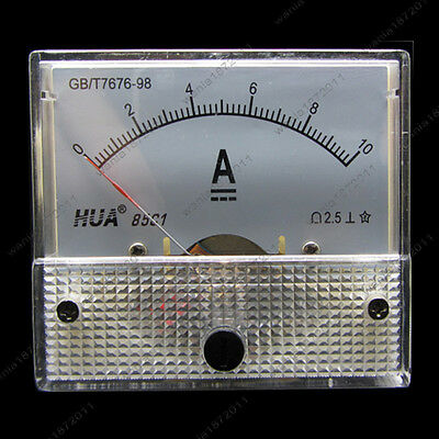 Dc 10a Analog Ammeter Panel Amp Current Meter 85c1 0-10a Dc Doesnt Need Shunt