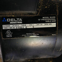 1.5 Hp Table Saw motor Delta/Craftsman