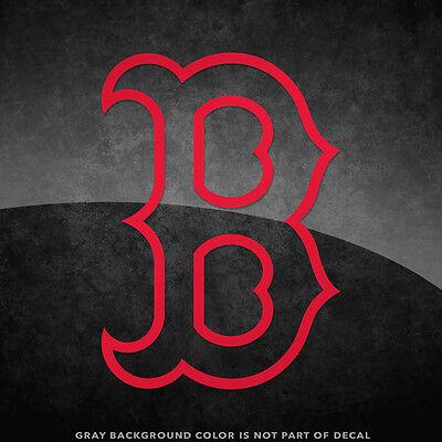 Boston Red Sox B Logo (Boston Red Sox B Logo Vinyl Decal Sticker - 4