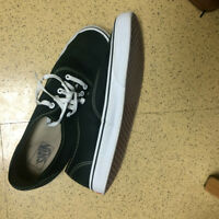 black and white vans/shoes for sale-size 12