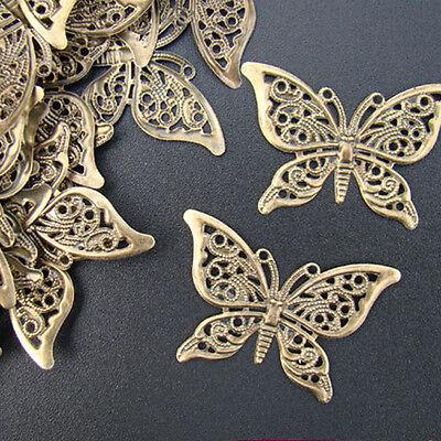50 FILIGREE Vintage Ornament Bronze Verbinder SCHMETTERLINGE - p00677