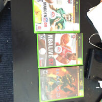 Original Xbox + 3 Controllers + 3 Games- Includes all cords.