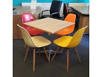 Square Table with Eames Style Bistro Chairs