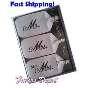 Honeymoon Gifts Luggage Tags Wedding Gifts Mr Mrs and More Mrs