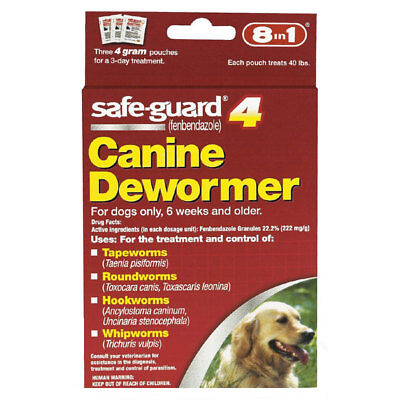 Safe-Guard 4 Canine Dewormer 8 in 1 - Each Pouch Treats 40