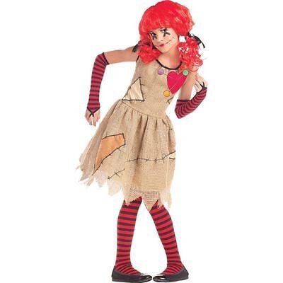 Girls Voodoo Doll Child Costume Fancy Dress - Voodoo Child Kostüm