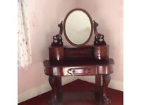 Victorian gothic style dressing table