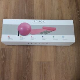 Yoga mat with gym ball set new