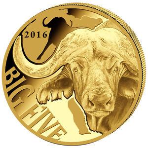 999 Gold Goldmünze Big Five Büffel Wasserbüffel 2016 100 Fr Francs Kamerun