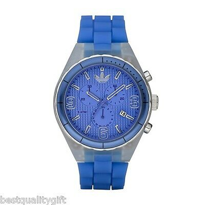NEW ADIDAS CAMBRIDGE ROYAL BLUE DIAL AND SILICONE BAND CHRONOGRAPH WATCH-ADH2532