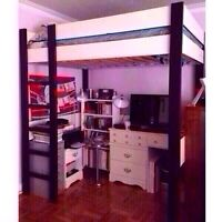 Moving Sale!! IKEA Single Loft Bed. Mattress not included