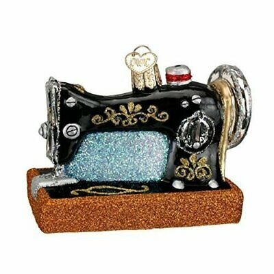 Old World Christmas 32103 Glass Blown Sewing Machine Ornament