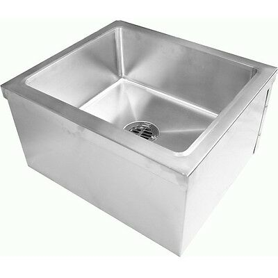 All 18 Gauge Stainless Steel Floor Mount Mop Sink 24w X 24l X 13h Se2424fm