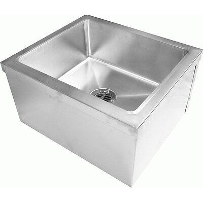 All 18 Gauge Stainless Steel Floor Mount Mop Sink 24w X 24l X 13h Se2424fm