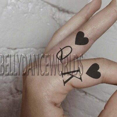 CUTE KING AND QUEEN PAIRED COUPLE FINGER ARM LEG TEMPORARY TATTOO LOVE STICKER - Cute Finger Tattoos