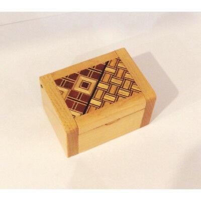 Karakuri Hikkake Box Hakone Yosegi Japanese Gimmick Puzzle Box Wooden New, used for sale  Shipping to Canada