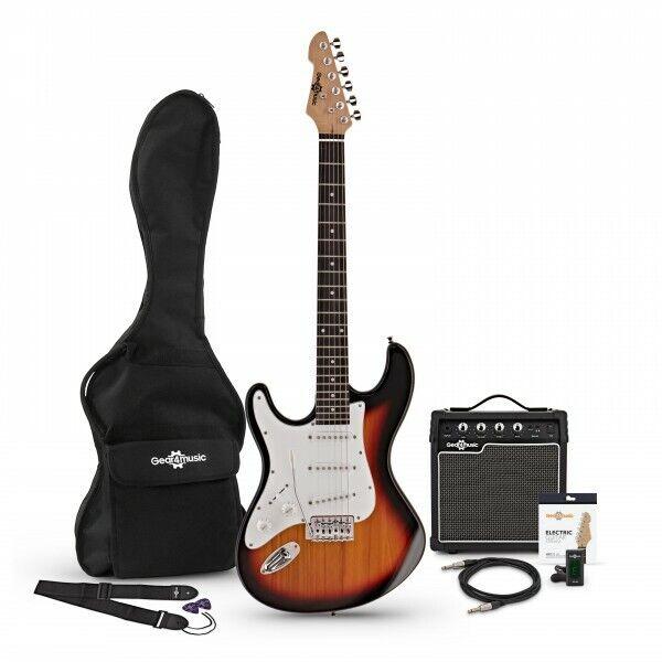 LA Left Handed Electric Guitar + Amp Pack Sunburst