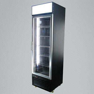 Sleek Metal Vertical Single Glass Door Commercial Display Refrigerator