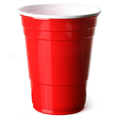 50 x Amercian 16oz Red Party Cups (Strong Disposable Plastic) [5055202126114]